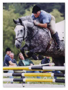 John Blair and Sir Norman of Tivorton, sired by the late Embajador IX. Photo Credit: Reflections of Killington, Inc.