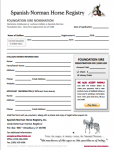 Spanish-Norman Foundation Sire Nomination Form